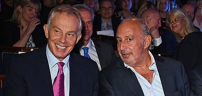 Tony Blair and Philip Green