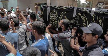 Gaza father sets fire to self