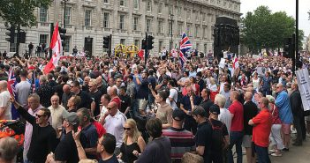 'Free Tommy Robinson' marchers