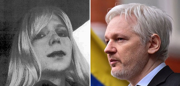 Chelsea Manning and Julian Assange
