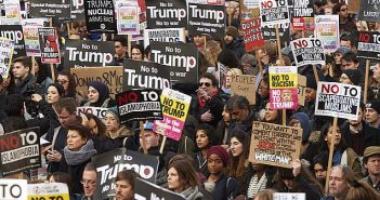No to Donald Trump demonstration