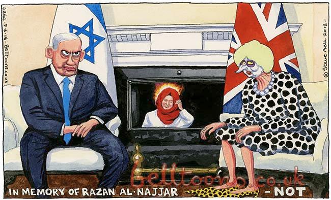 Steve Bell - in praise of Razan al Najjar