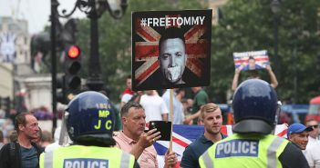 'Free Tommy Robinson' protest, 9 June 2018