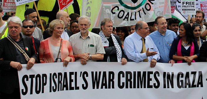 Jeremy Corbyn on Gaza demo