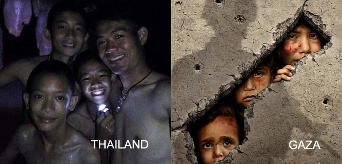 Thailand cave boys and Gaza children