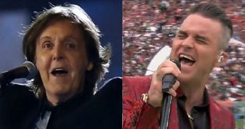 Paul McCartney and Robbie Williams