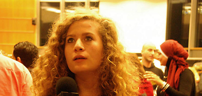 Ahed Tamimi after release