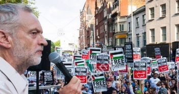 Jeremy Corbyn at Palestine protest