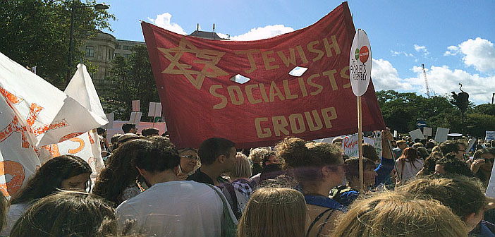 Jewish bloc on refugees protest