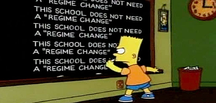 Simpsons Regime Change