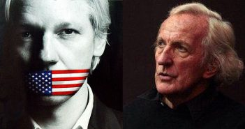 Julian Assange and John Pilger