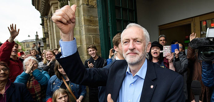 Jeremy Corbyn thumbs up