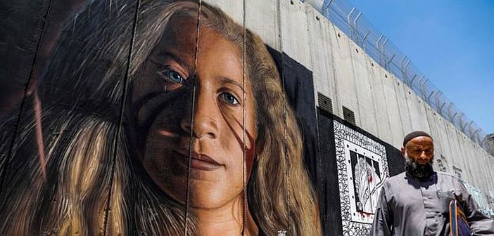 Giant mural of Ahed Tamimi