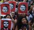 Brazillian women protest against ne0-fascist Jair Bolsonaro