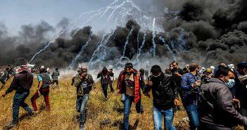 Israel tear gas attack