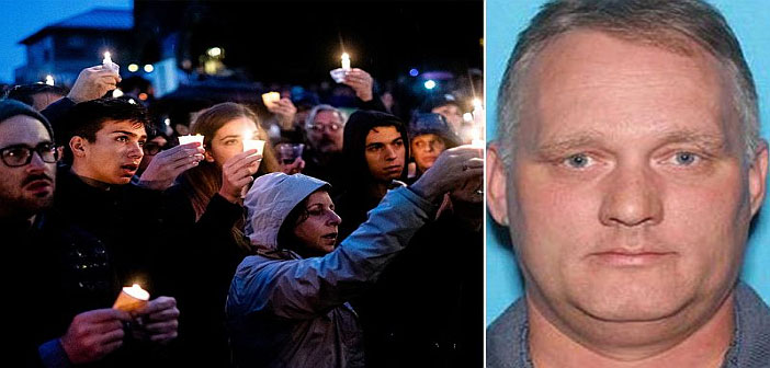 Pittsburg vigil and alleged murderer Robert Bowers