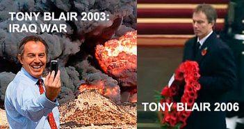 Tony Blair - Iraq - red poppy