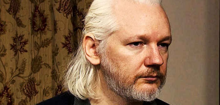 Julian Assange with beard