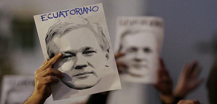 Julian Assange Ecuador protest