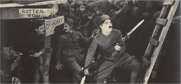 Charlie Chaplin antiwar film Shoulder Arms