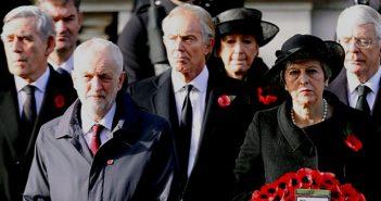 Jeremy Corbyn at The Cenotaph