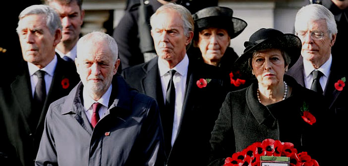 Jeremy Corbyn at The Cenotaph