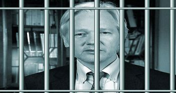 Julian Assange behind bars