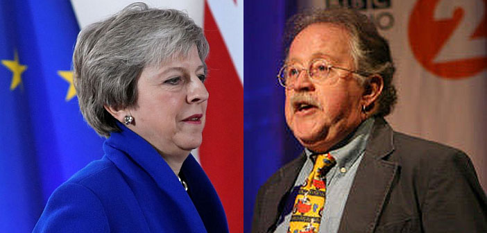 Theresa May and Mike Harding