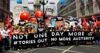 Get the Tories out protest