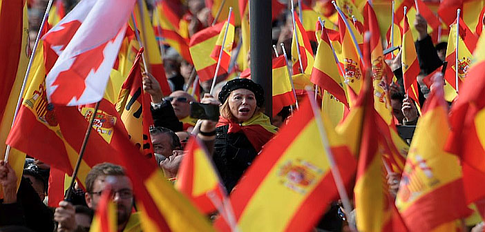 Demonstration by far-right Vox party in Spain
