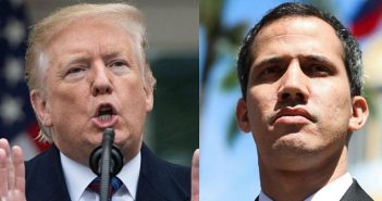 Donald Trump and Juan Guaido