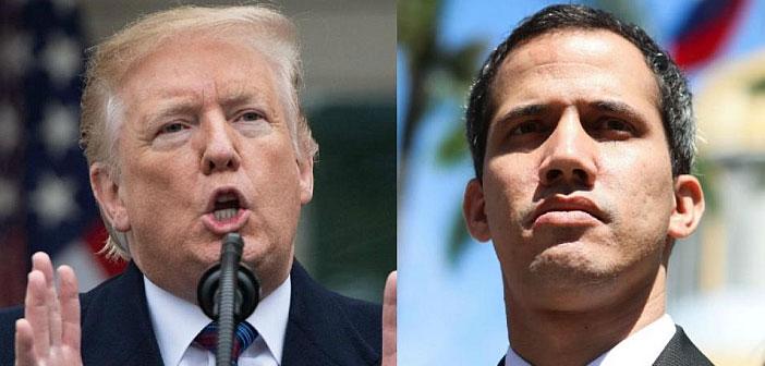 Donald Trump and Juan Guaido