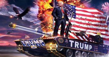 Trump on tank