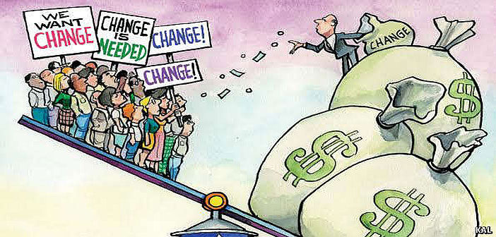 We want change