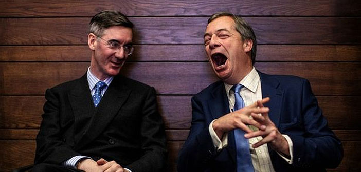 Jacob Rees-Mogg and Nigel Farage