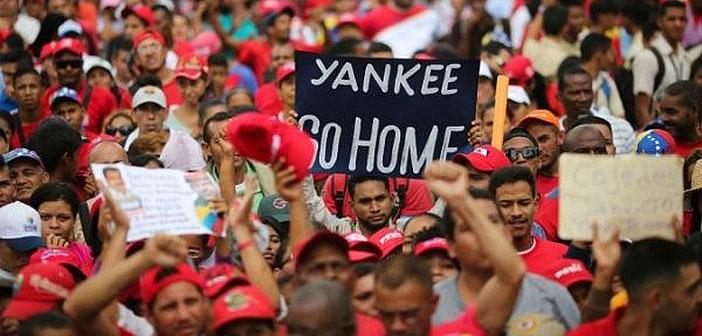 Venezuela protest: Yankee go home