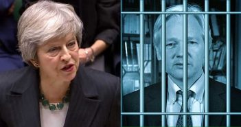 Theresa May. Assange behind bars