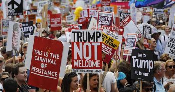 Donald Trump UK protest