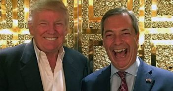 Farage and Trump share a joke