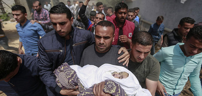 Gaza baby killed by Israel